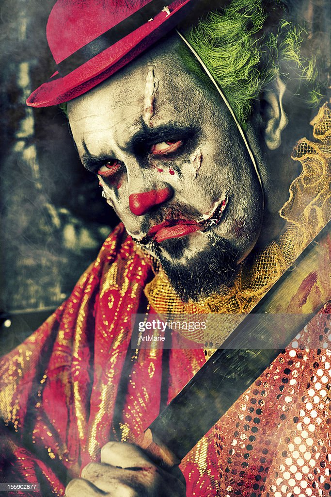 Evil Clown : Stock Photo