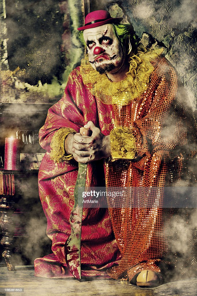 Evil Clown : Stock Photo