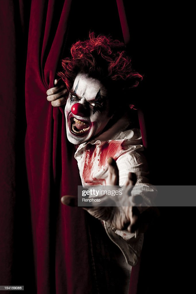 Evil Clown Series: Coming To Get You! : Stock Photo