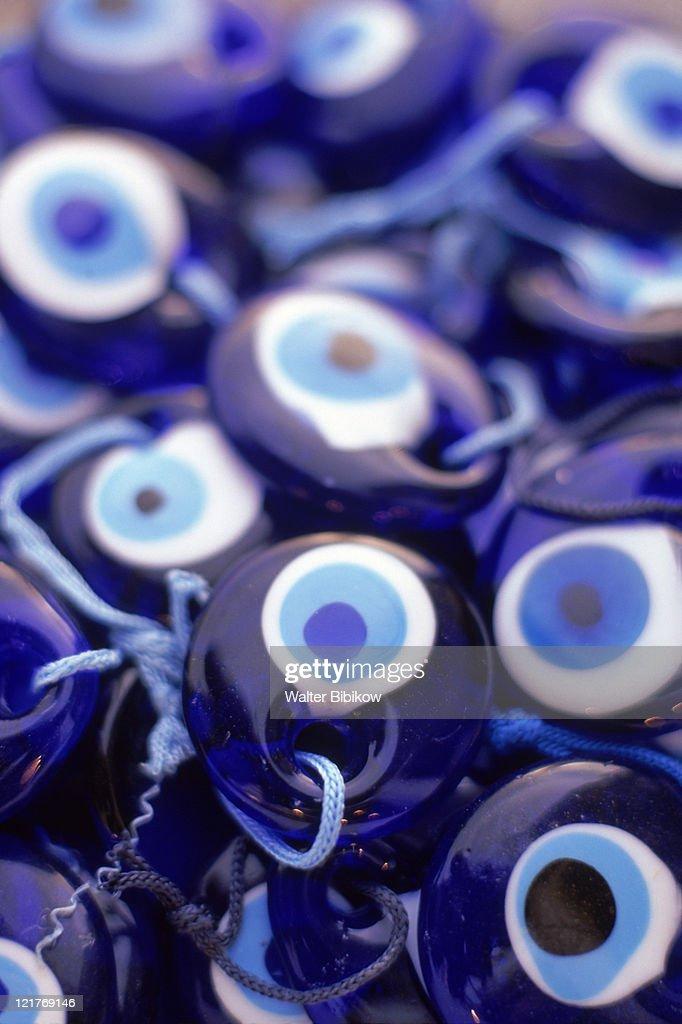 Evil eye jewelry, Marmaris, Mediterranean, Turkey : Stock Photo