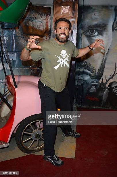 'Evil' Jared Hasselhoff attends a special preview for the film 'Dawn of the Planet of the Apes' at Freizeitpark Spreepark on July 30 2014 in Berlin...