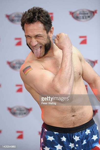 Evil Jared Hasselhoff attends the Celebrity Boxing Press Conference at Ufer 8 on March 29 2012 in Duesseldorf Germany