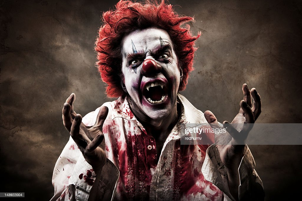 Evil Vampire Clown : Stock Photo