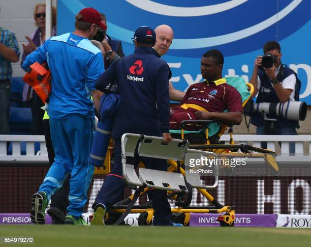 Evin Lewis of West Indies during 4th Royal London One Day International Series match between England and West Indies at The Kia Oval London on 27...
