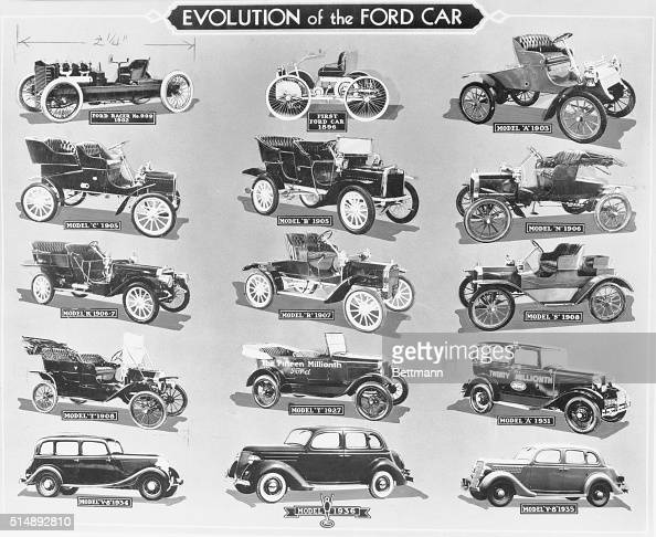 evolution of ford automobiles pictures getty images. Black Bedroom Furniture Sets. Home Design Ideas