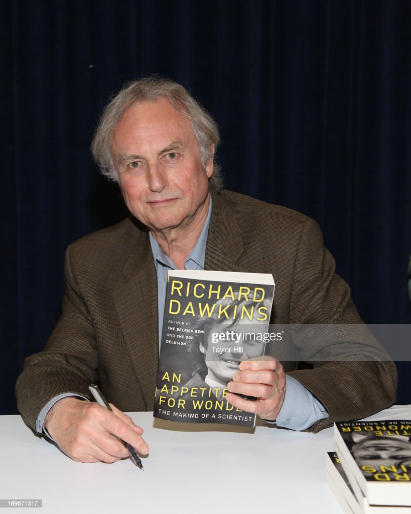 Evolutionary biologist <a gi-track='captionPersonalityLinkClicked' href=/galleries/search?phrase=Richard+Dawkins&family=editorial&specificpeople=700997 ng-click='$event.stopPropagation()'>Richard Dawkins</a> attends the 2013 Book Expo America on day one at Jacob Javits Center on May 30, 2013 in New York City.