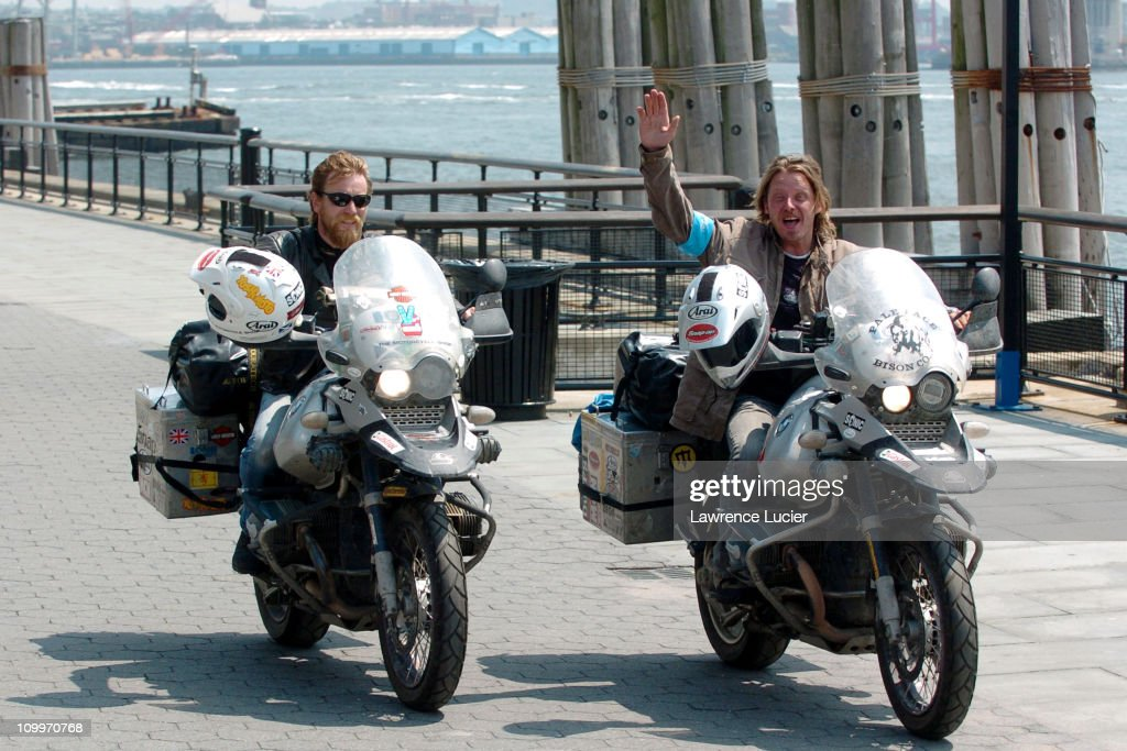 Ewan McGregor And Charley Boorman During Complete Their Epic 20000 Mile