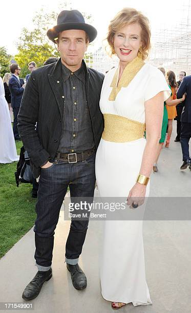 Ewan McGregor and Codirector of the Serpentine Gallery Julia PeytonJones attend the annual Serpentine Gallery Summer Party cohosted by L'Wren Scott...