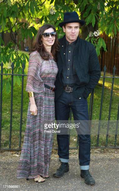 Ewan McGregor and Eve Mavrakis attend The Serpentine Gallery Summer Party at The Serpentine Gallery on June 26 2013 in London England