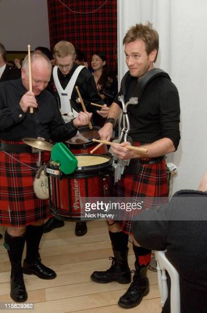 Ewan McGregor and his father during 2007 Burns Night Hosted by Ewan McGregor Inside at St Martins Lane Hotel in London Great Britain