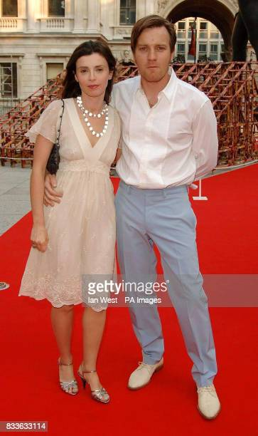 Ewan McGregor and his wife Eve attend the Royal Academy Summer Exhibition 2006 preview party at the Royal Academy of Arts central London