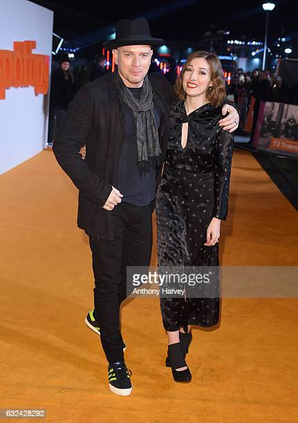 Ewan McGregor and Kelly Macdonald attend T2 Trainspotting World Premiere on January 22 2017 in Edinburgh United Kingdom