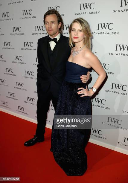 Ewan McGregor and Melanie Laurent attend the IWC Inside The Wave Gala during the Salon International de la Haute Horlogerie 2014 at the Palexpo on...
