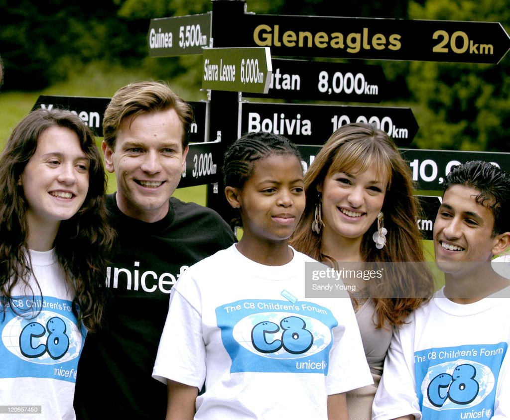 UNICEF C8 Launches Children's Summit with Ewan McGregor and Nicola Benedetti - July 3, 2005