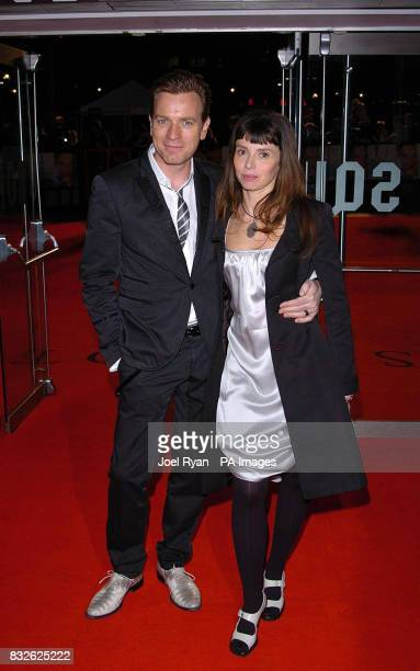 Ewan McGregor and wife Eve arrive for the world premiere of Miss Potter in London's West End