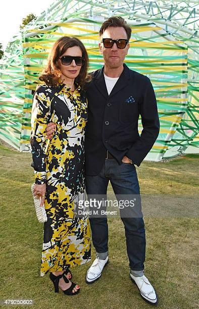 Ewan McGregor and wife Eve Mavrakis attend The Serpentine Gallery summer party at The Serpentine Gallery on July 2 2015 in London England