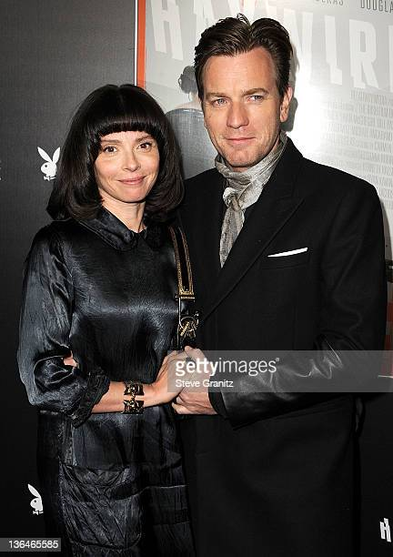 Ewan McGregor and wife Eve Mavrakis attends the 'Haywire' Los Angeles Premiere at DGA Theater on January 5 2012 in Los Angeles California