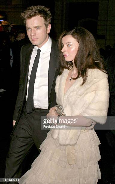 Ewan McGregor and wife Eve Mavrakis during 'Big Fish' Premiere After Party Outside Arrivals at St Martins Lane Hotel in London Great Britain