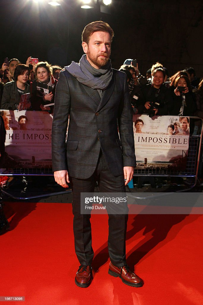 Ewan McGregor attends the UK charity premiere of 'The Impossible' at BFI IMAX on November 19, 2012 in London, England.