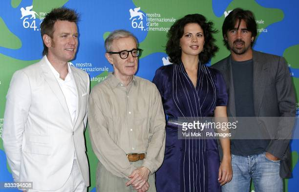 Ewan McGregor Director Woody Allen Hayley Atwell and Colin Farrell during a photocall for the film 'Casandra's Dream' on Sunday 2nd September