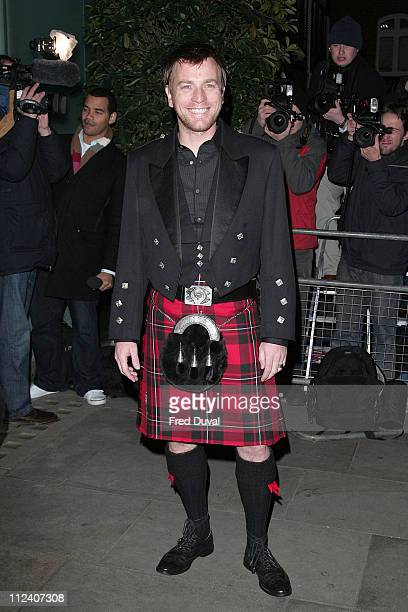 Ewan McGregor during Burns' Night VIP Fundraising Party Arrivals January 25 2006 at Asia de Cuba in London Great Britain