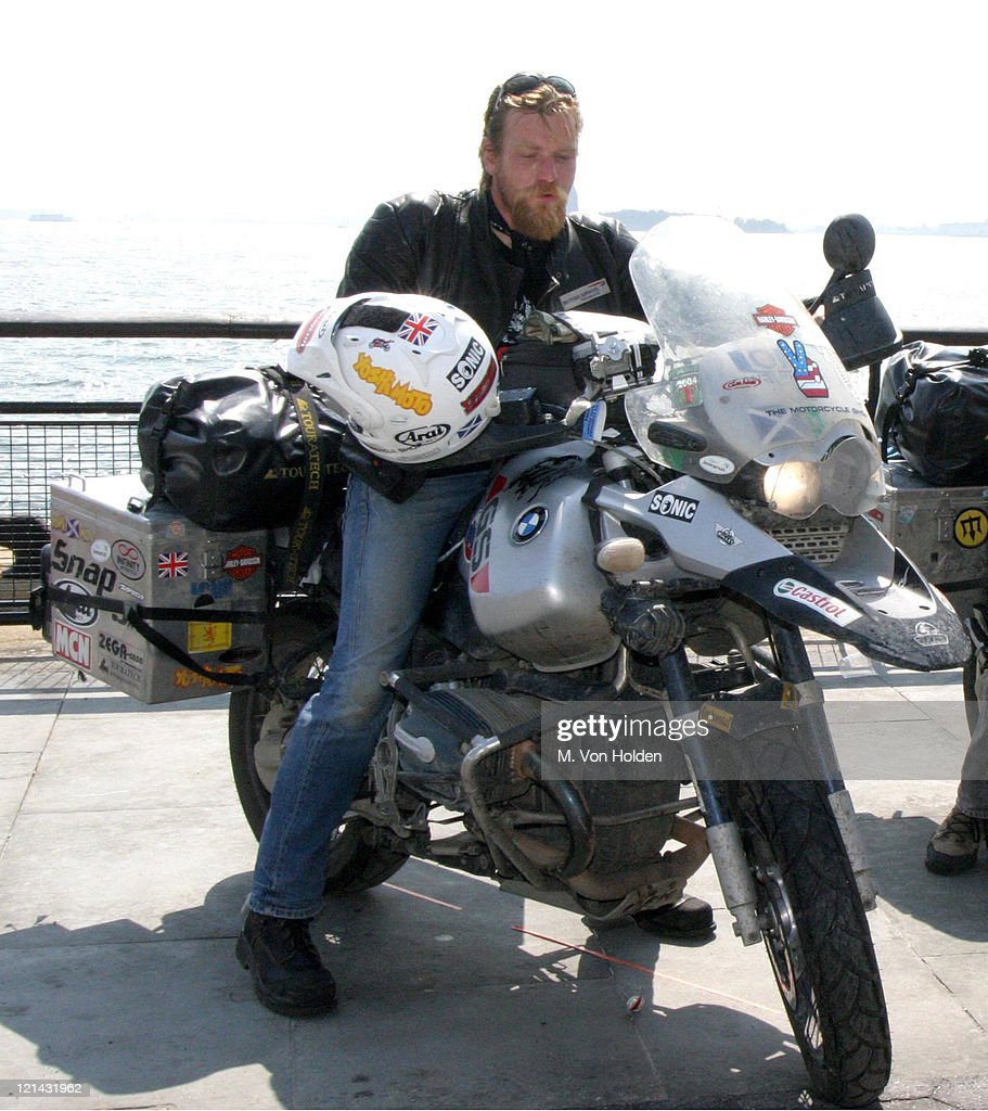 Ewan McGregor During And Charley Boorman Complete The Long Way Round At