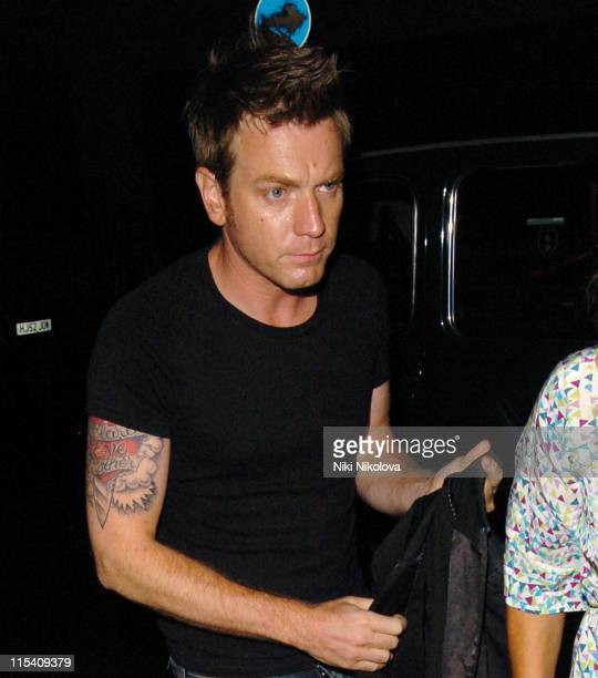 Ewan McGregor during 'Miami Vice' London Premiere After Party at Sanderson Hotel in London Great Britain