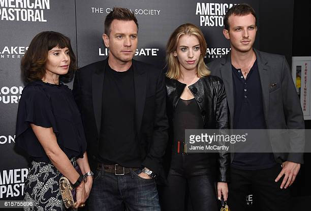 Ewan McGregor Eve Mavrakis Clara Mathilde McGregor and guest attend a screening of 'American Pastoral' hosted by Lionsgate Lakeshore Entertainment...