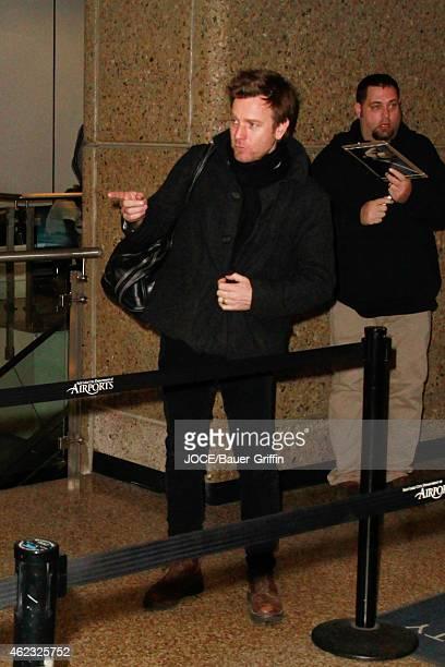 Ewan McGregor is seen at Salt Lake City Airport on January 26 2015 in Park City Utah