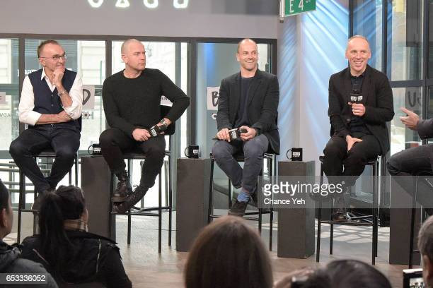Ewan McGregor Jonny Lee Miller Ewen Bremner and Danny Boyle attend Build series to discuss 'T2 Trainspotting' at Build Studio on March 14 2017 in New...