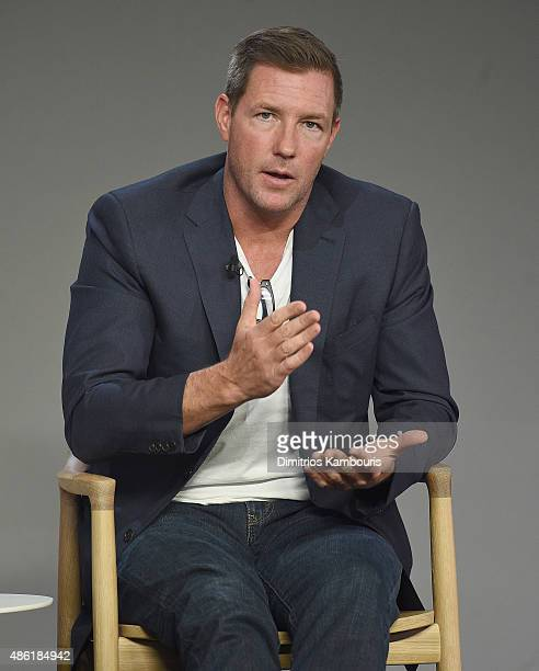 Ewards Burns attends the Apple Store Soho Presents Meet The Creator Edward Burns 'Public Morals'at Apple Store Soho on September 1 2015 in New York...
