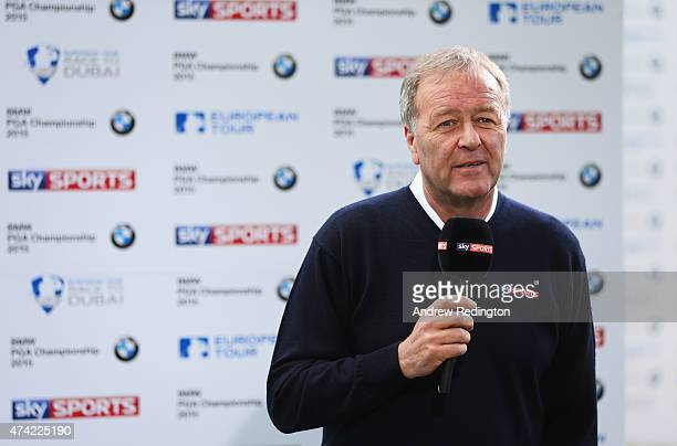 Ewen Murray of Sky Sports reports during day 1 of the BMW PGA Championship at Wentworth on May 21 2015 in Virginia Water England
