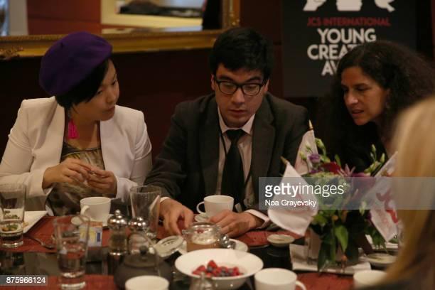 Ewing Luo Roberto Pino Almeyda and Eva Obadia attend the JCSI Young Creatives Award Ceremony Luncheon at Sofitel Hotel on November 18 2017 in New...