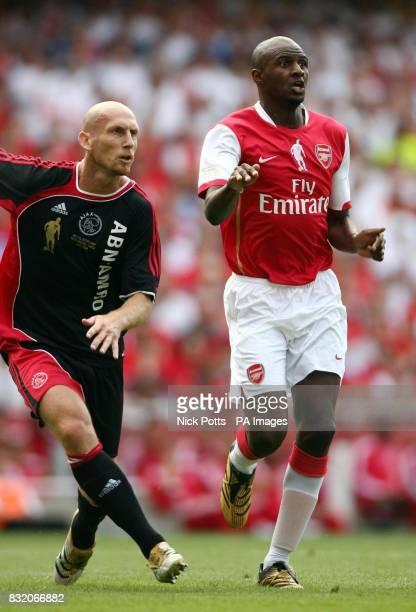Ex Arsenal player Patrick Vieira during the Dennis Bergkamp Testimonial match against Ajax at Emirates Stadium London