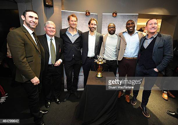 Ex Arsenal players Martin Keown Pat Rice Jens Lehmann Robert Pires Lauren Sol Campbell and Ray Parlour at the Preview Screening of 'Invincibles' at...
