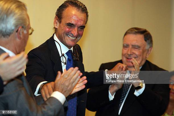 Ex Banker Mario Conde presents his autobiography 'Prisioner Memories' at the Intercontinental Hotel on September 24 2009 in Madrid Spain
