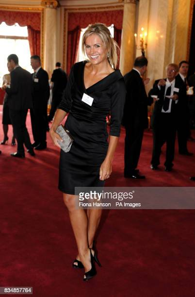 Ex Blue Peter presenter Katy Hill during a reception to mark the programme's 50th birthday at Buckingham Palace London