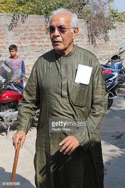 Ex Chief Information Commissioner of India Wajahat Habibullah coming out from the residence of resistance leader Syed Ali Geelani where they held...
