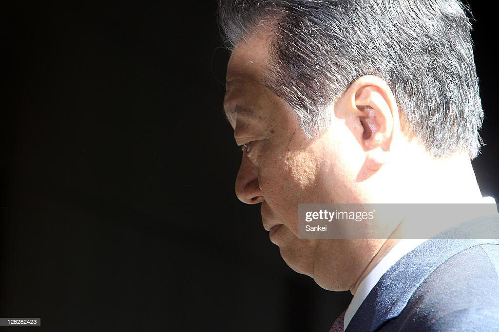 Ex Democratic Party of Japan president <a gi-track='captionPersonalityLinkClicked' href=/galleries/search?phrase=Ichiro+Ozawa&family=editorial&specificpeople=680192 ng-click='$event.stopPropagation()'>Ichiro Ozawa</a> enters the Tokyo District Court on October 6, 2011 in Tokyo, Japan. Powerful lawmaker Ozawa has been indicited after an judical panel turning the decision by prosecutors. Ozawa's former three aides were verdicted guilty over his political fund scandal.