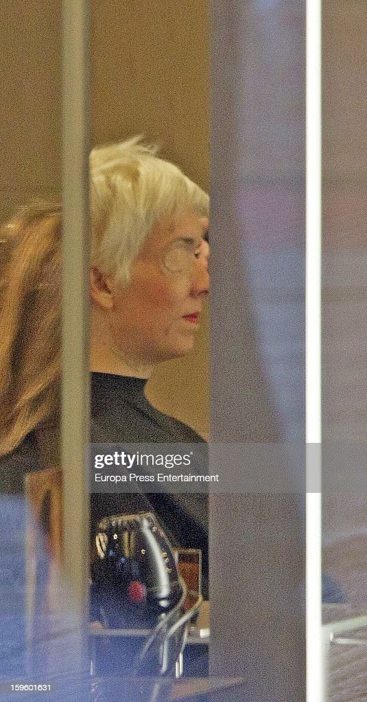 Ex Formula 1 driver Maria de Villota is seen on January 16, 2013 in Madrid, Spain. Maria de Villota, 32 years old, lost her right eye and suffered severe head injuries after crashing while conducting a straight line test at an airfield base on July 3, 2012 in Cambridgeshire, England.