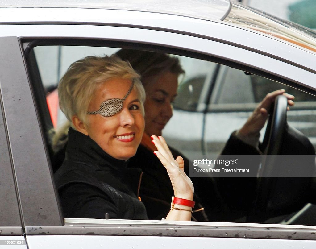 Ex Formula 1 driver <a gi-track='captionPersonalityLinkClicked' href=/galleries/search?phrase=Maria+de+Villota&family=editorial&specificpeople=8544103 ng-click='$event.stopPropagation()'>Maria de Villota</a> is seen on January 16, 2013 in Madrid, Spain. <a gi-track='captionPersonalityLinkClicked' href=/galleries/search?phrase=Maria+de+Villota&family=editorial&specificpeople=8544103 ng-click='$event.stopPropagation()'>Maria de Villota</a>, 32 years old, lost her right eye and suffered severe head injuries after crashing while conducting a straight line test at an airfield base on July 3, 2012 in Cambridgeshire, England.