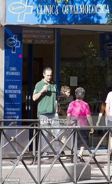 Ex husband of princess Elena of Spain Jaime de Marichalar and his son Felipe Juan Froilan Marichalar are seen on August 7 2012 in Madrid Spain