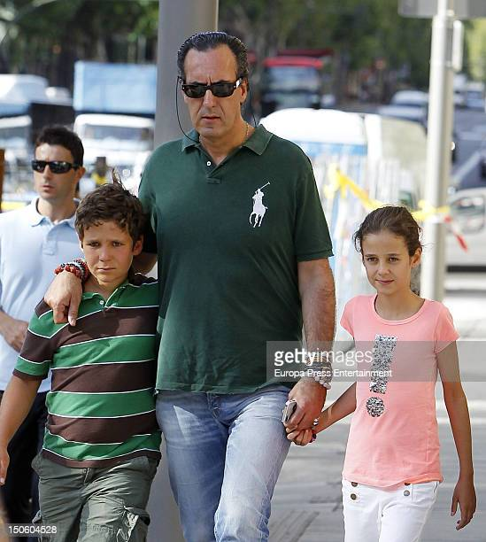 Ex husband of princess Elena of Spain Jaime de Marichalar his son Felipe Juan Froilan Marichalar and his daughter Victoria Federica Marichalar are...