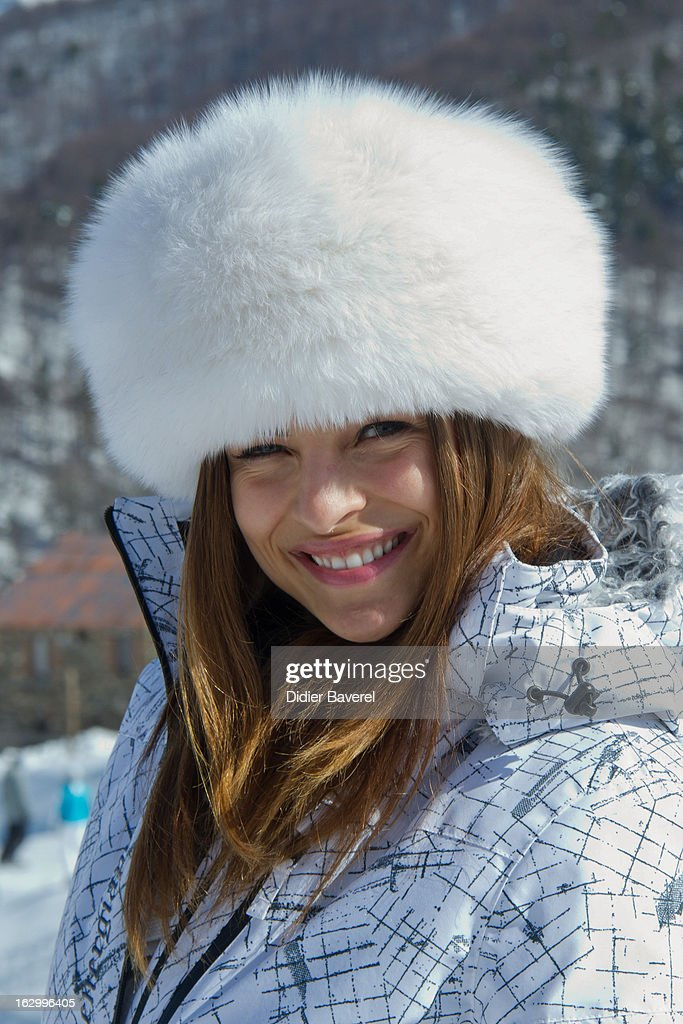 Ex Miss Italy Cristina Chiabotto attends the Charity Ski Race To Collect Donations For 'Star Team For The Children MC' on March 2, 2013 in Limone, Italy.