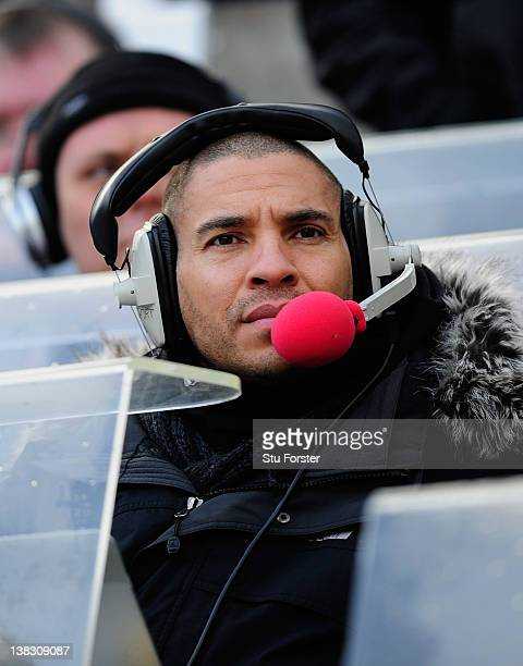 Ex Player and Radio commentator Stan Collymore looks on before the Barclays Premier League match between Newcastle United and Aston Villa at Sports...