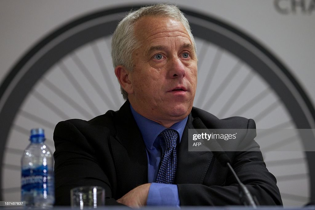 Ex professional cyclist, entrepreneur, and anti-doping advocate Greg LeMond speaks at a press conference on the sidelines of the Change Cycling Now summit in London on December 3, 2012. Former Tour de France winner Greg LeMond is prepared to challenge for the top job in world cycling as the sport battles to recover from the Lance Armstrong doping scandal, he said in an interview published on December 3, 2012. Asked by the French newspaper Le Monde whether he was prepared to run for president of the International Cycling Union (UCI) against incumbent Pat McQuaid, the 51-year-old said: 'Yes, I'm ready. I've been asked and I accept...
