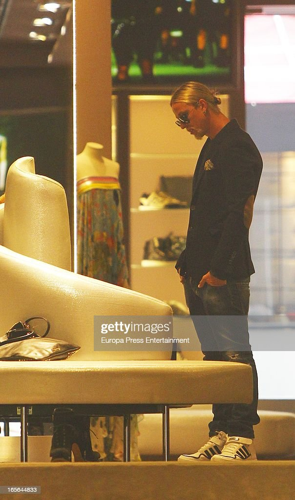 Ex Real Madrid football player Guti is seen going for shopping on April 4, 2013 in Madrid, Spain.