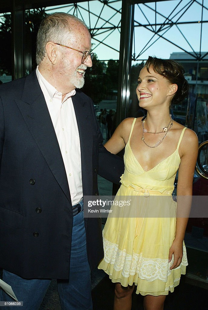 Ex Sony CEO John Calley (left) and actress Natalie Portman arrive at the premiere of Fox Searchlight Pictures' 'Garden State' on July 20, 2004 at the Directors Guild, in Los Angeles, California.