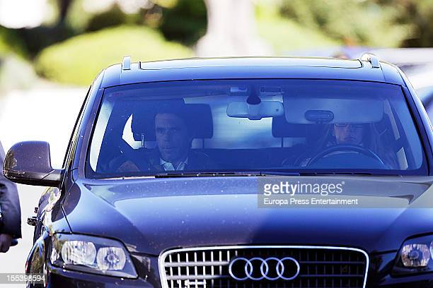 Ex Spanish Prime Minister is discharged from hospital after undergoing for gastroenteritis Her daughter Ana Aznar is seen driving the car on October...