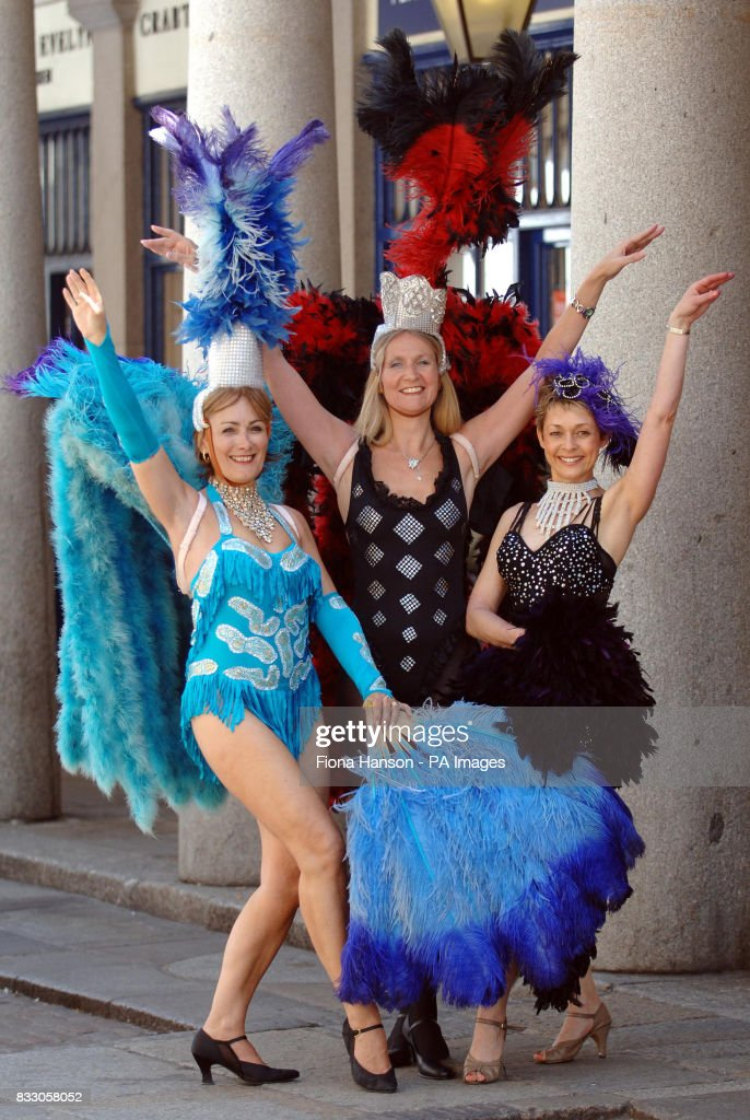 ex Tiller Girl Liz Burville, 47, former professional dancer Sandra Carter, 53, and (Benny) Hill's Angel Alison Kerridge, 49, who are auditioning for parts starring mature dancers in WOW, a variety show conceived by circus impresario Gerry Cottle.